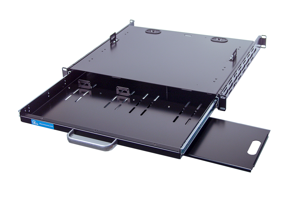 rackmount keyboard drawer or tray with mouse pad. Black Bedroom Furniture Sets. Home Design Ideas