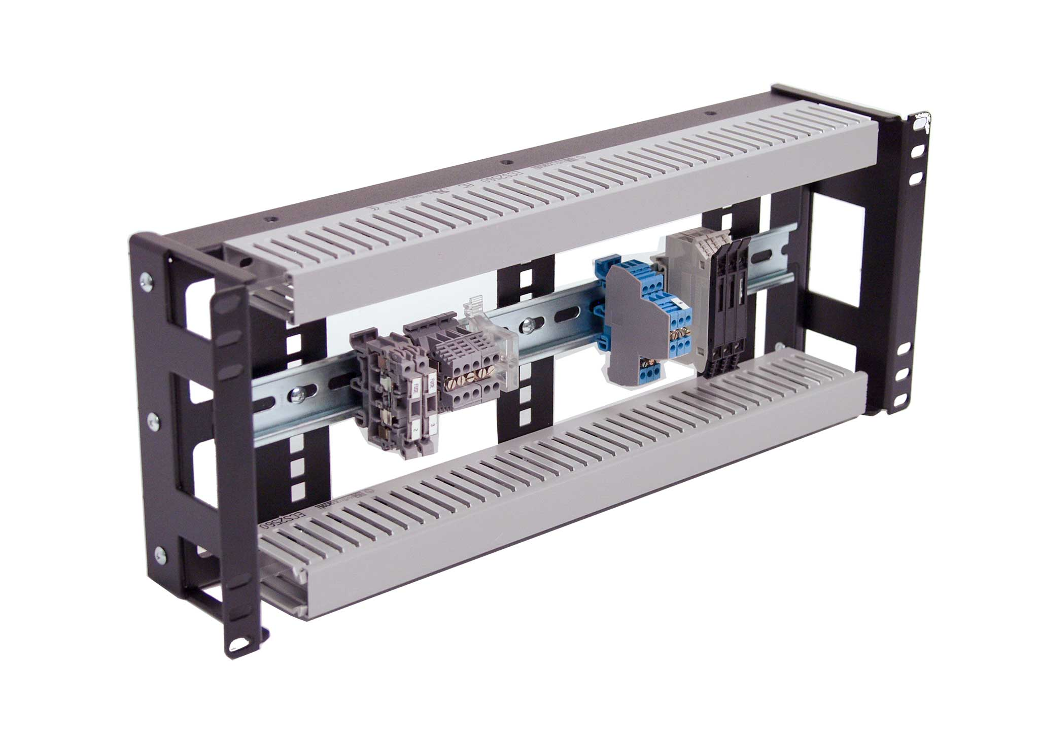 4U DIN Rail ultra compact enclosures for standard 19