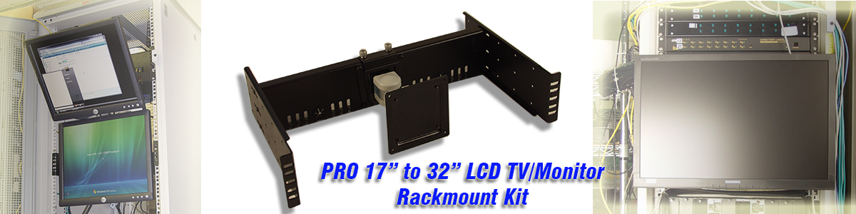 "VESA 17"" to 32"" LCD Monitor Rackmount Conversion Kit"