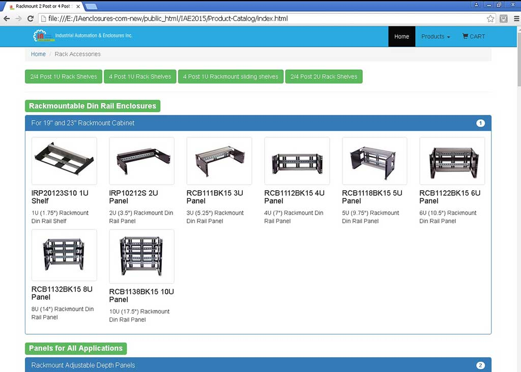 DIN Rail Panels and Rackmount Acessories